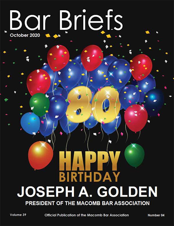 Bar Briefs October 2020 Cover