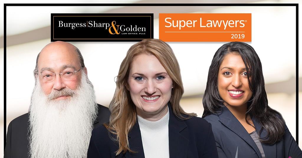 Burgess Sharp & Golden: 2019 Super Lawyers
